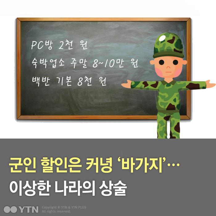 [한컷뉴스] 군인 할인은 커녕 '바가지'...이상한 나라의 상술