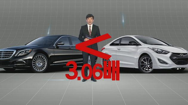 서울 강북 3구 국산차 견인 확률, 외제차의 67배