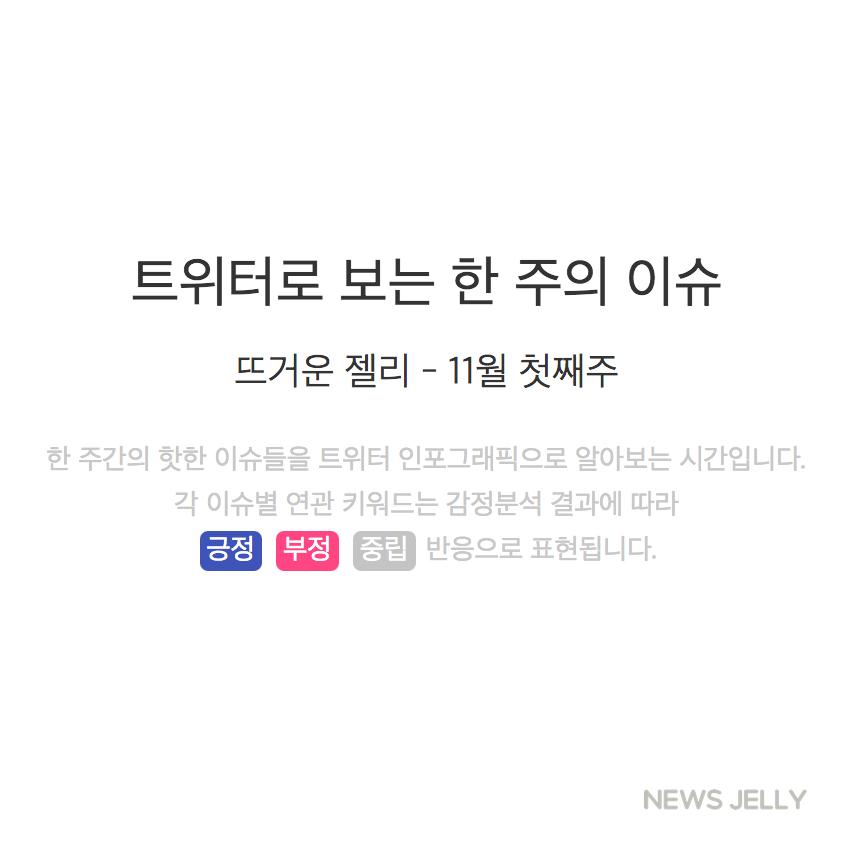 [한컷뉴스] 트위터로 보는 한 주간의 이슈 (11월 첫째 주)