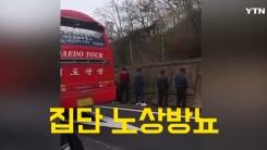 [영상] 고속도로 갓길 집단 노상방뇨 '여기서 이러시면...'