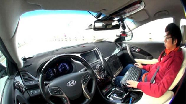 자율주행 자동차, 실제 도로 첫 주행