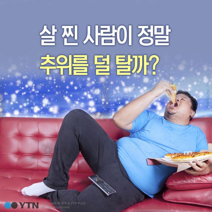 [한컷뉴스] 살찐 사람이 정말 추위를 덜 탈까?