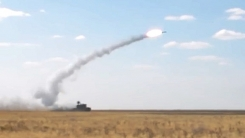 러시아의 신형 지대공 미사일 포격 순간