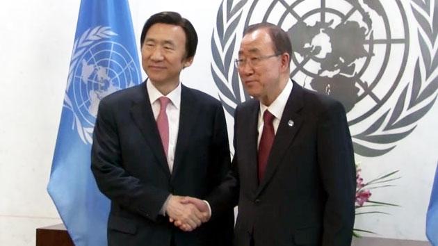 윤병세 장관, UN에 강력한 대북 제재 요청