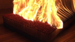성냥 6천 개를 한꺼번에 태워 보았습니다