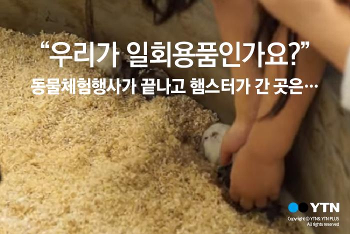 [한컷뉴스] 햄스터가 폐기물인가요?
