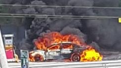 [블박TV] '칼치기' 직후 주유소 진입한 차량...의문의 폭발