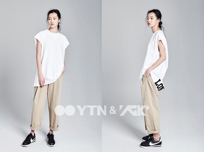 민소매 티셔츠 하나만으로 스타일 지수 UP!
