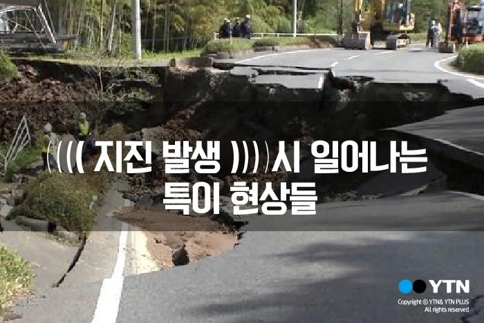[한컷뉴스] 지진발생시 일어나는 특이현상들