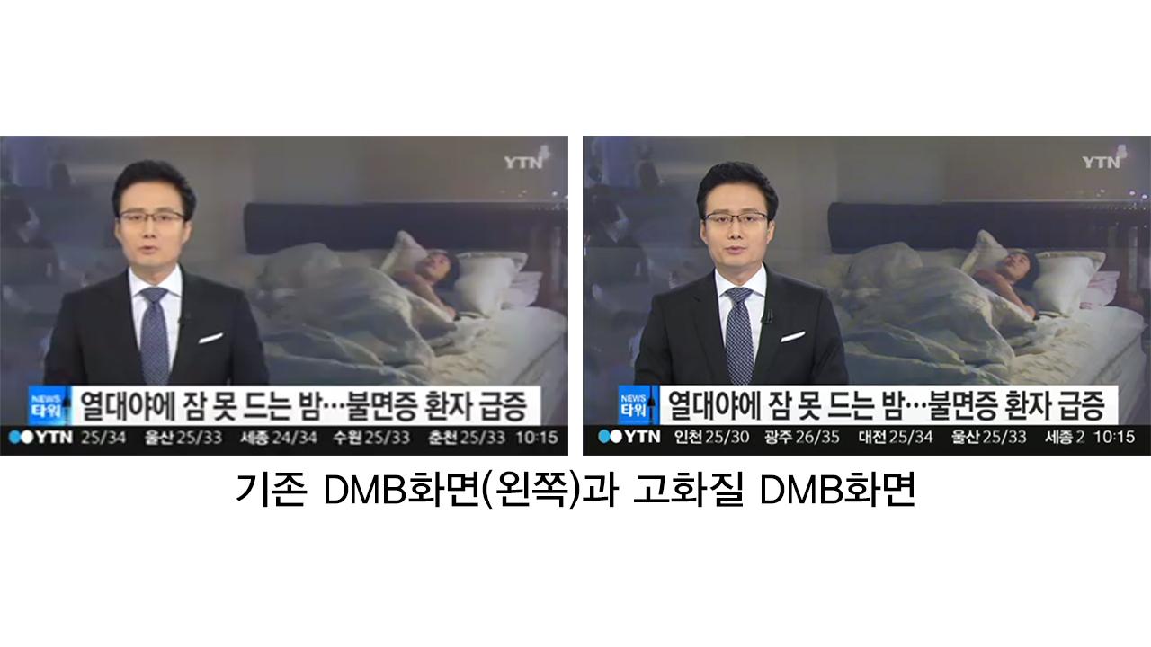 """YTN DMB 등 3개 지상파 DMB, """"오늘부터 12배 선명한 HD 방송 시작"""""""