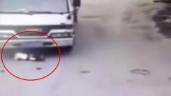 '아이 위를 그대로'...끔찍한 트럭 사고의 반전
