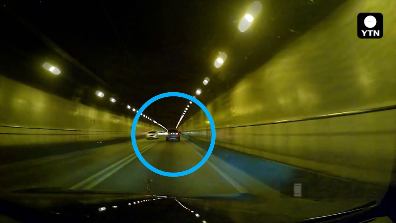 [블박TV] 터널 안 졸음운전 사고 막은 '경적'