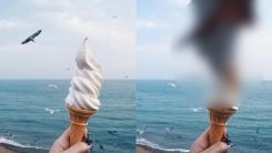 바닷가에서 감성 사진 찍으려다 봉변당한 여성