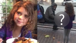 8살 소녀가 식당 밖 노숙자에 보인 '따뜻한 행동'