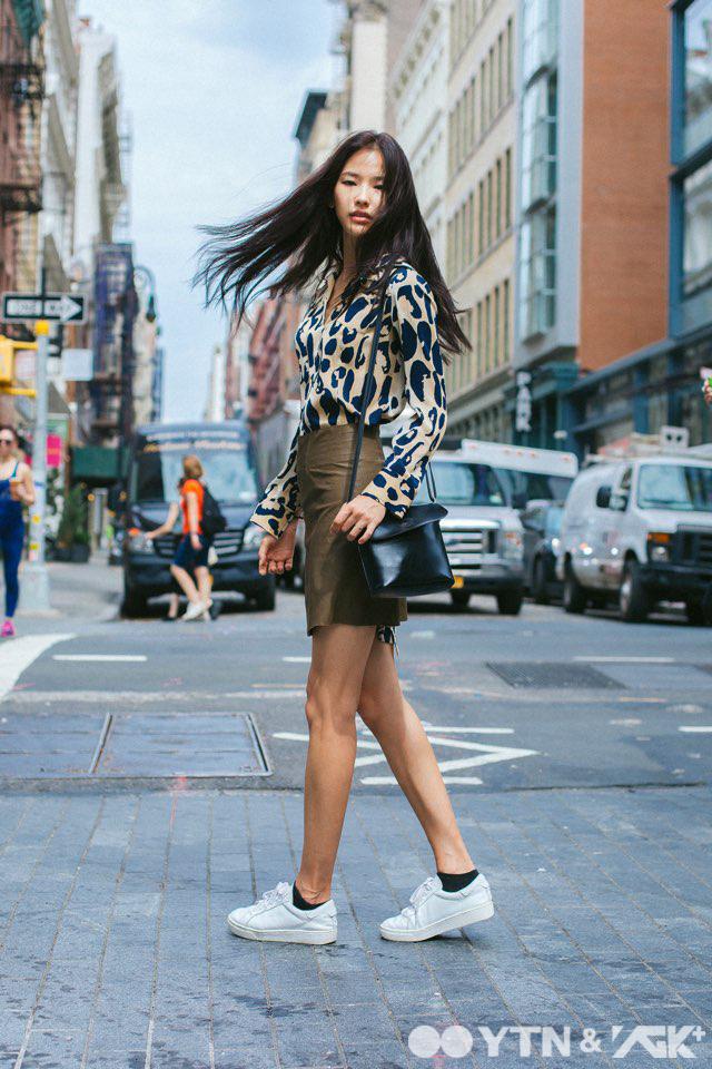 황현주, 뉴욕 길거리에서도 모델 포스 제대로 발휘!
