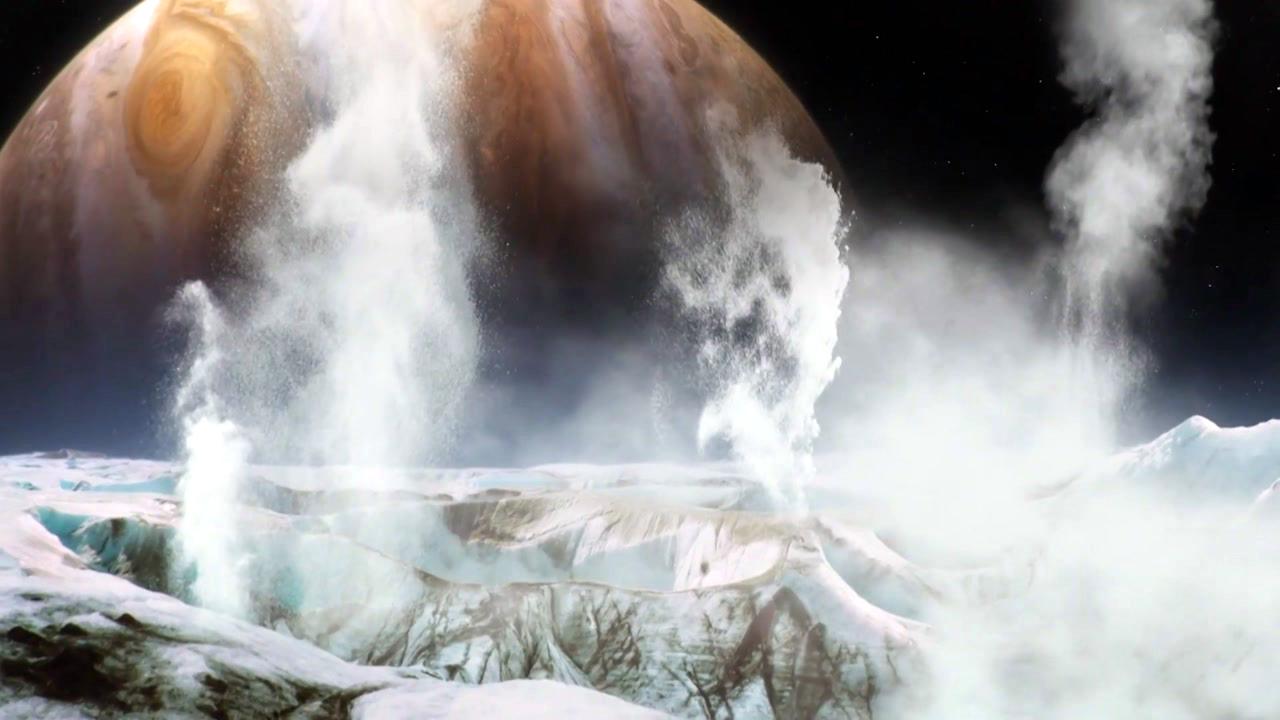 목성의 위성, 유로파에서 거대한 '수증기 기둥' 발견