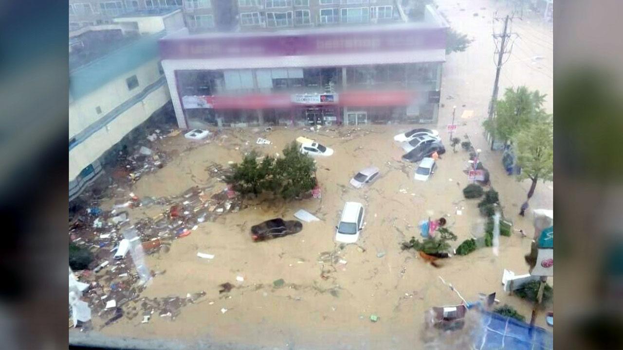 울산 시간당 124㎜ 물 폭탄...태화강 홍수경보 발령