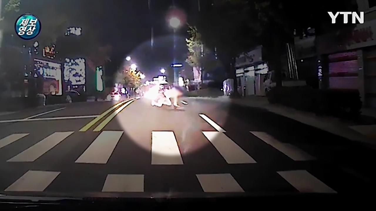 [영상] 자해공갈단 마주친 운전자의 '순발력 있는 대처'