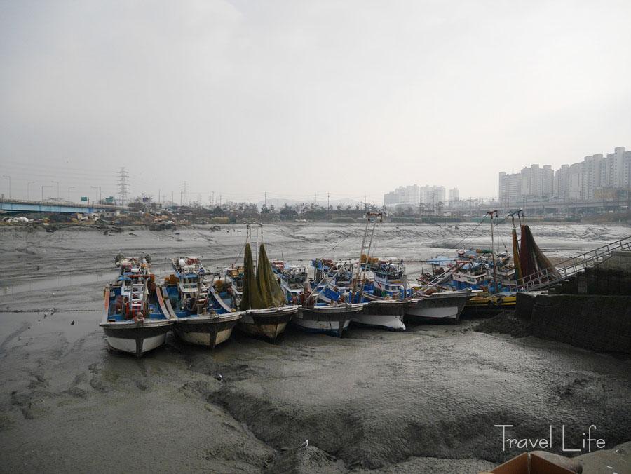 소래포구, 밀려간 바닷물에 쏟아진 새해 관광객들