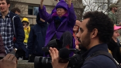 트럼프 취임식에서 유명해진 동양인 할머니