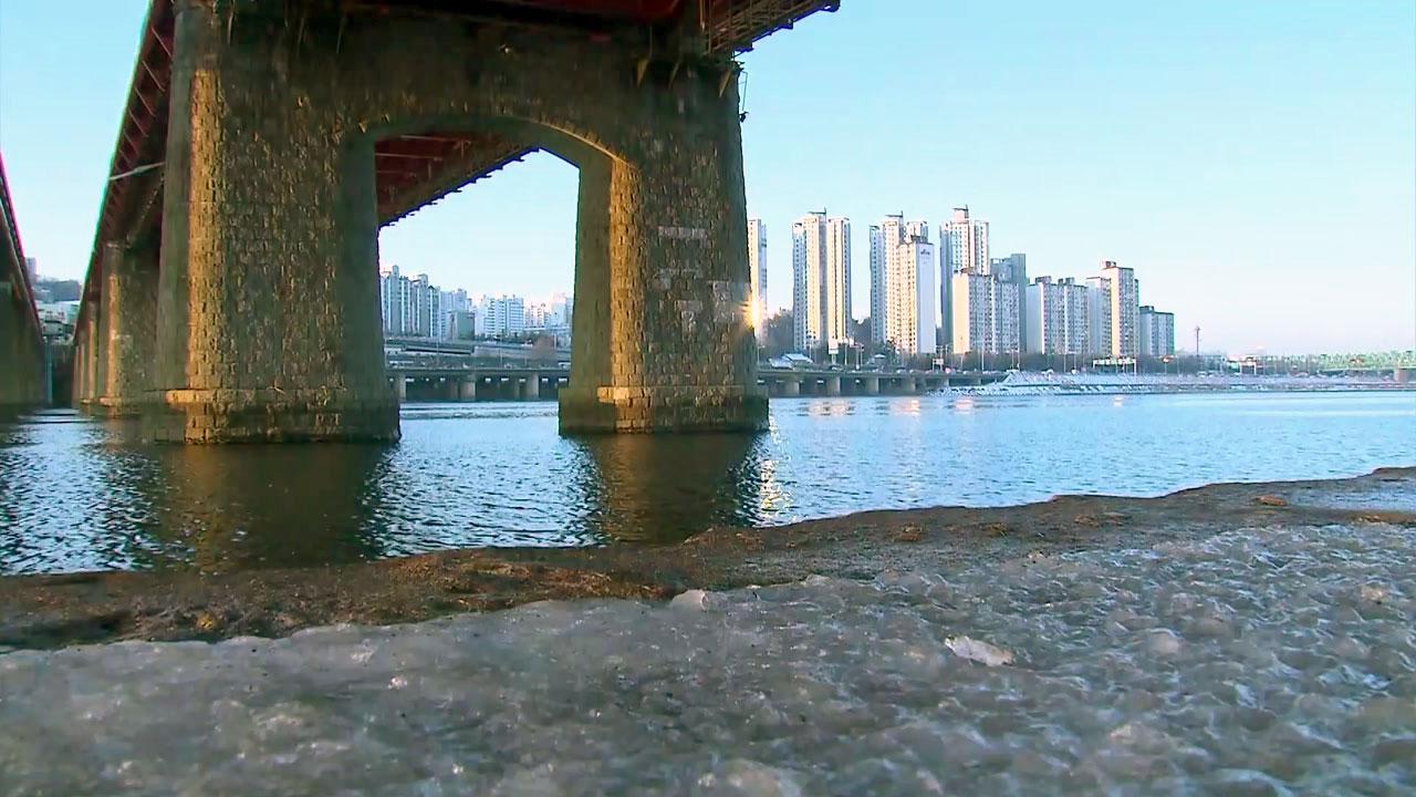 [취재N팩트] 소주 얼리는 맹추위...한강은 안 얼었다
