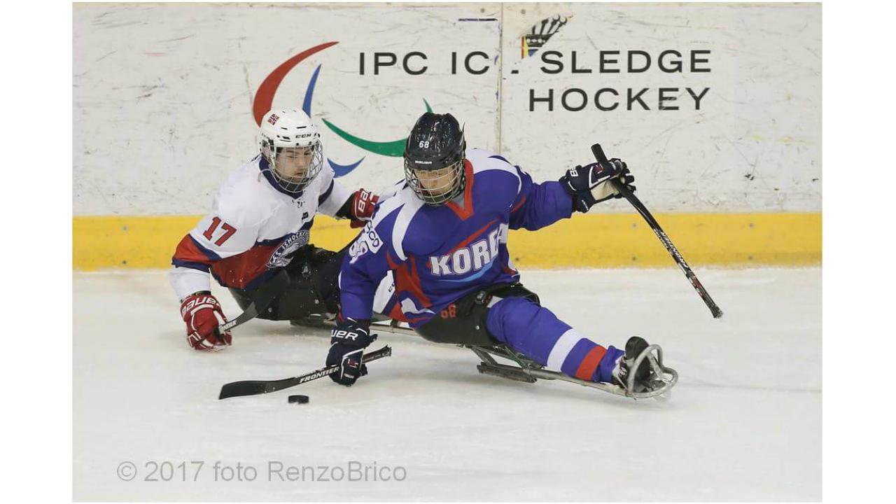장애인 아이스하키 국가대표팀, 토리노 국제 대회 노르웨이전서 6대3 승리