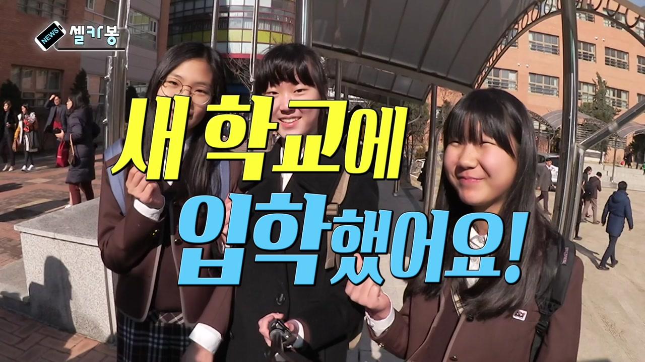 [셀카봉뉴스] 새 학교에 입학했어요!