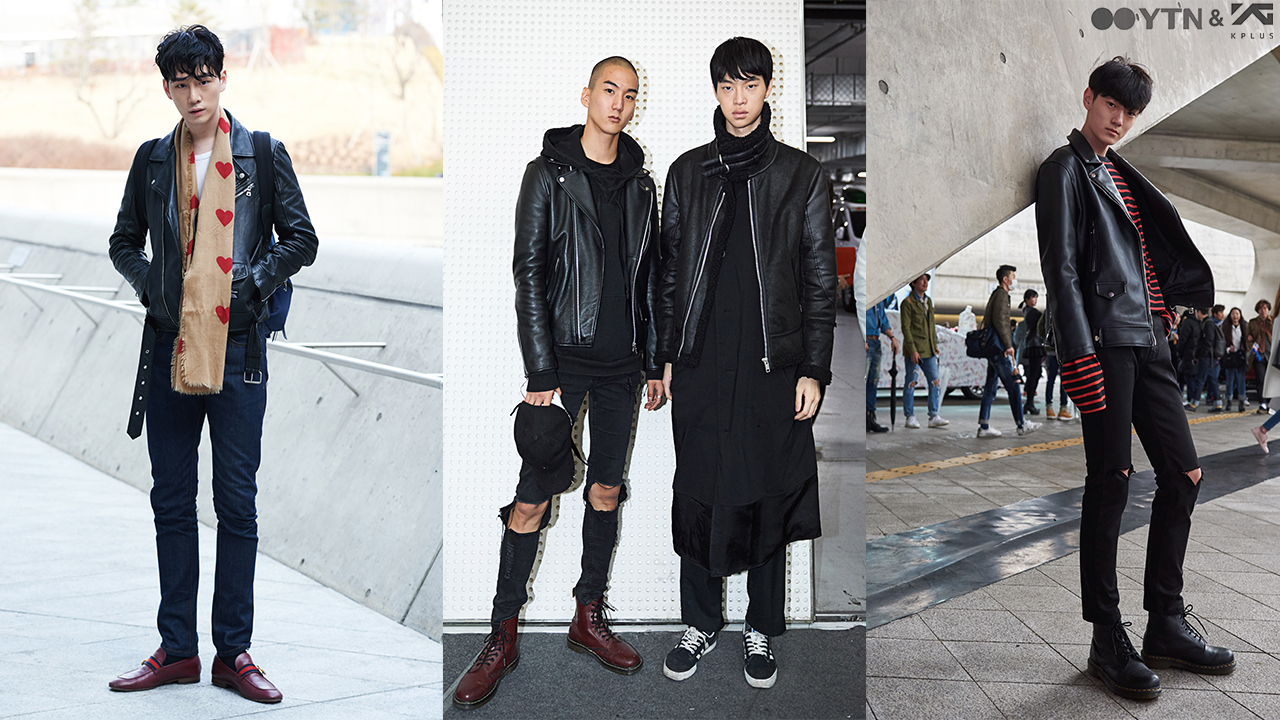 남자 모델들의 블랙 카리스마! 라이더 재킷의 무한변신!