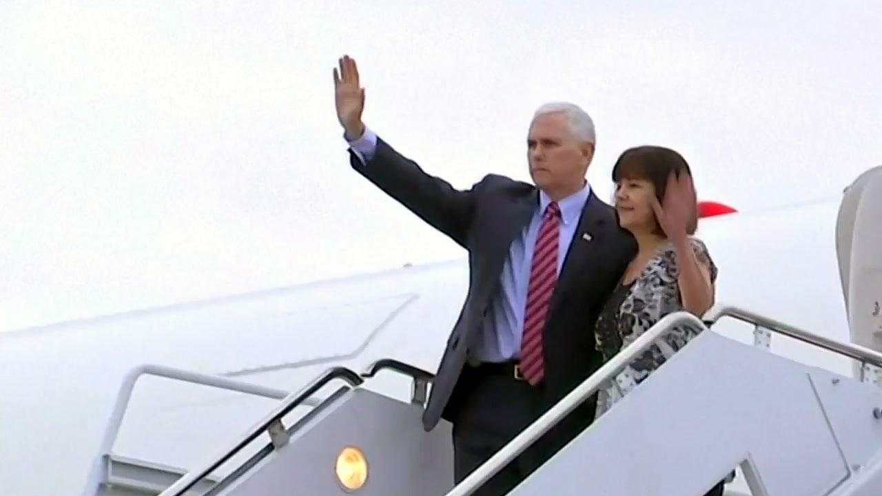 펜스 美부통령, 한국 방문 위해 출국...북핵 메시지 주목