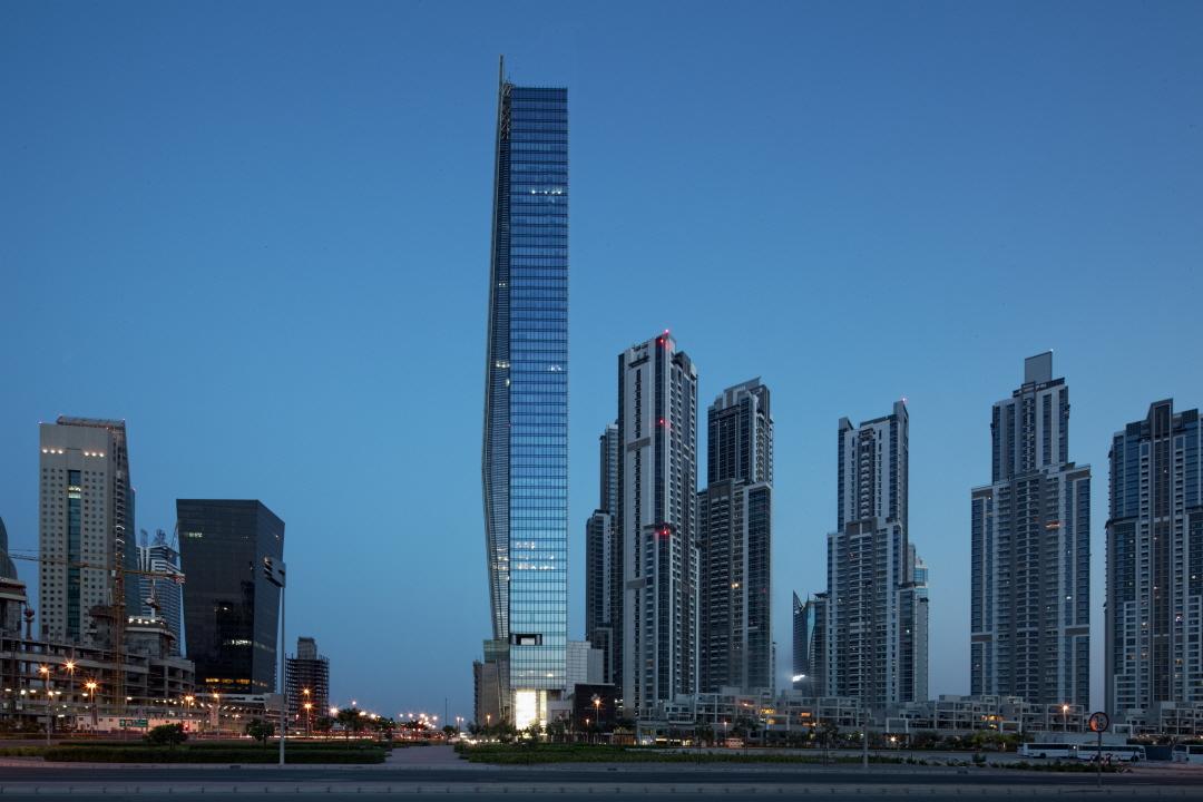 〔안정원의 디자인 칼럼〕 두바이의 67층의 비전타워, 구부러진 커튼월의 이유있는 끌림