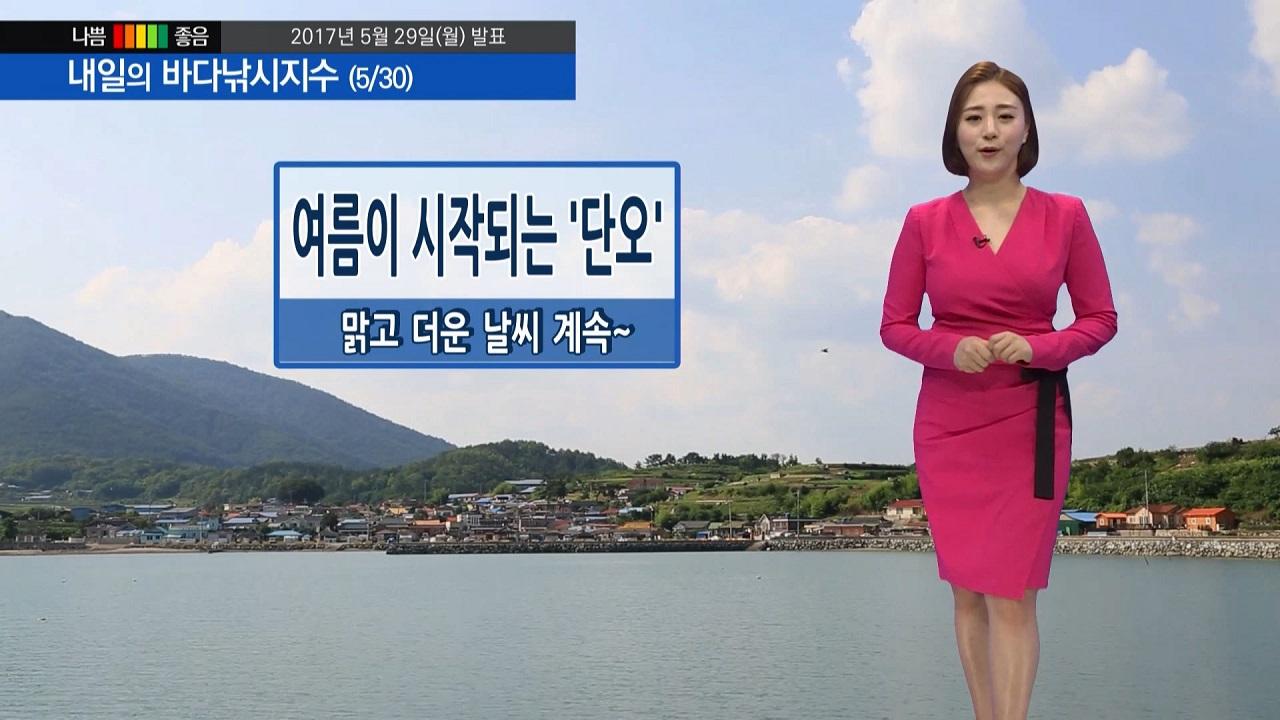 [내일의 바다낚시지수] 5월 30일 단옷날 폭염특보 수분 섭취 자외선차단제 필수 건강주의