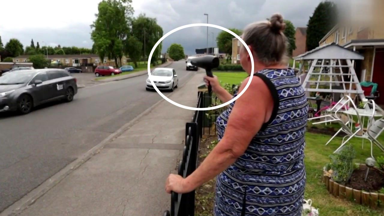 [영상] '폭주족들의 질주' 막은 할머니의 아이디어