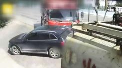덤프트럭 앞 무리한 '칼치기' 차량의 최후