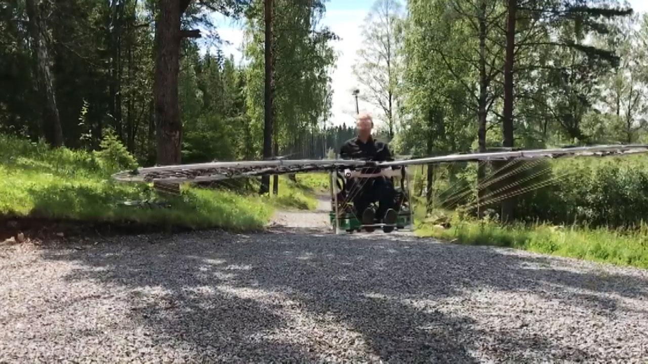 [영상] 드론 76대로 만든 '하늘을 나는 차'