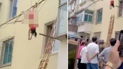 5층에서 추락한 여성, 전깃줄 덕분에 목숨 건져