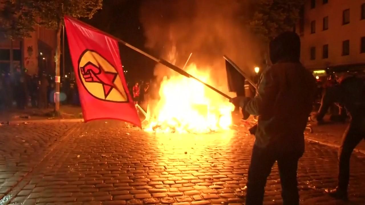 '반 자본주의' G20 반대 격렬 시위 ...70여 명 부상