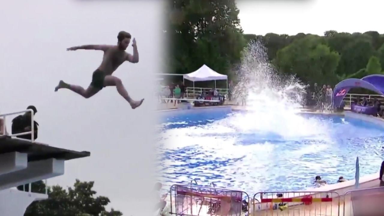 [영상] '보기만 해도 배 아파'...이색 다이빙 대회