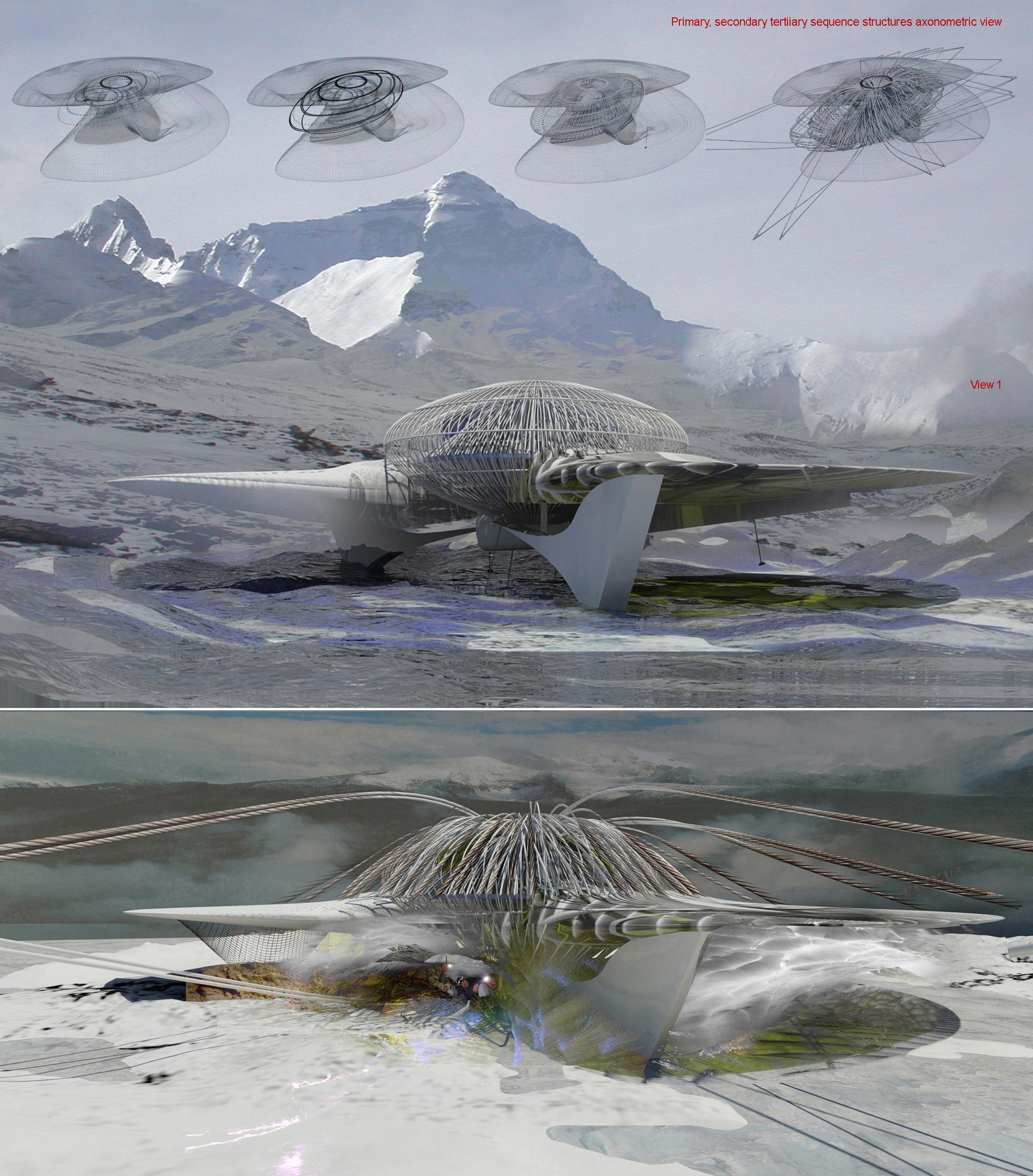 〔안정원의 디자인 칼럼〕 전문 산악인을 위한 비상 대피소 인공 눈굴 쉼터 디자인 2