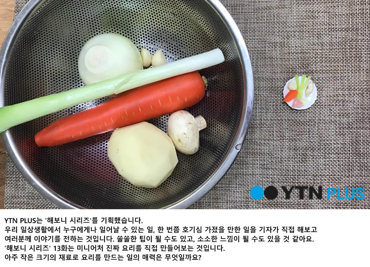 [해보니 시리즈 ⑬] '이게 진짜 음식이라고?' 미니어처 요리 도전!