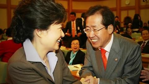 자유한국당 '朴 제명 여부' 홍 대표에 위임
