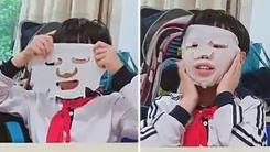 엄마 마스크팩 훔쳐와 학원에서 피부 관리한 아이