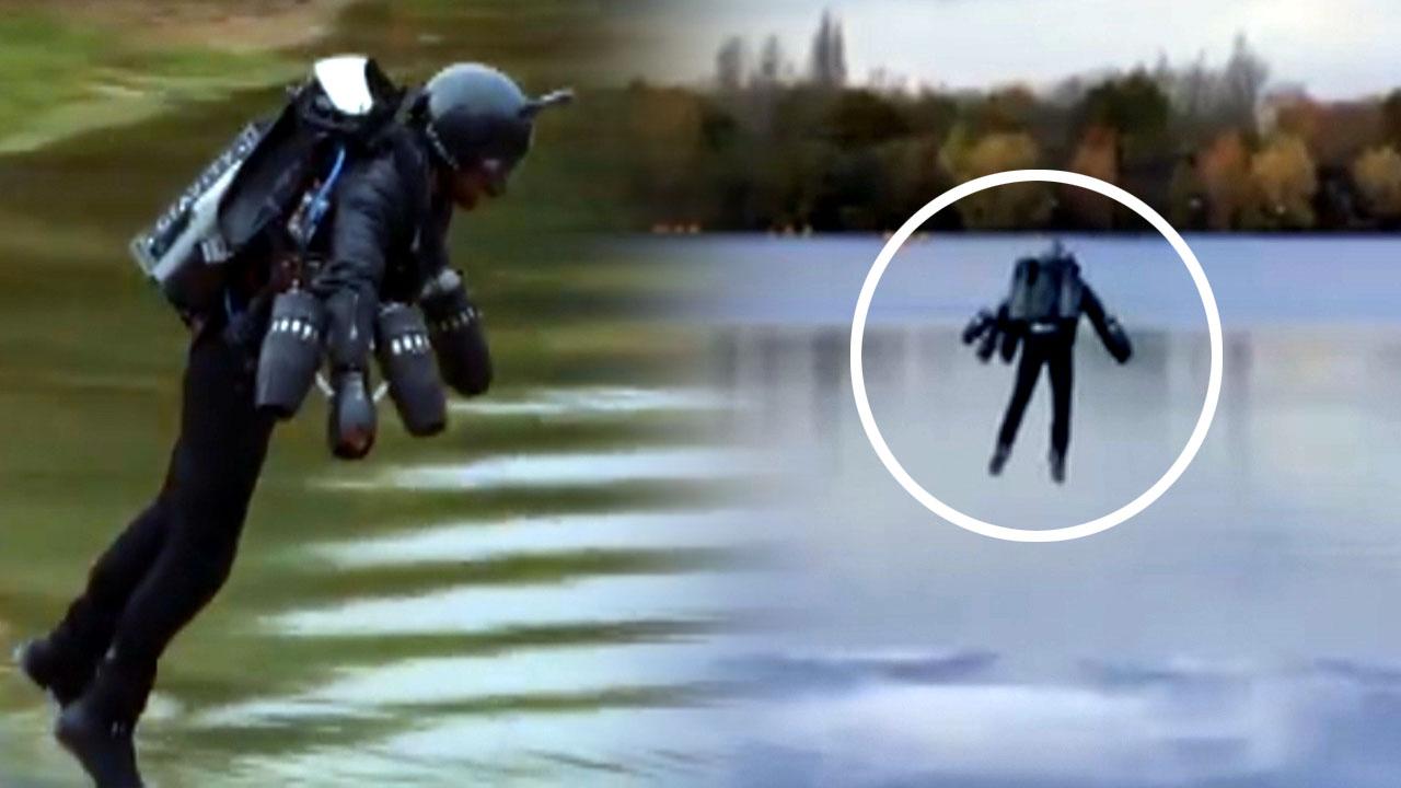 '현실판 아이언맨'...시속 52km로 100m 비행