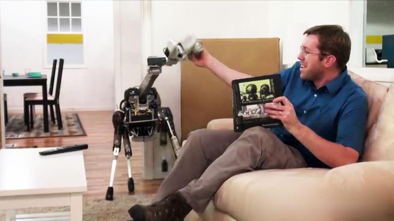 진짜 개처럼 움직이는 '4족 보행 로봇'