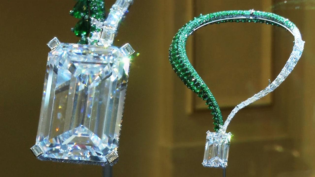 경매 사상 최대 163캐럿 다이아몬드 378억 원에 팔려