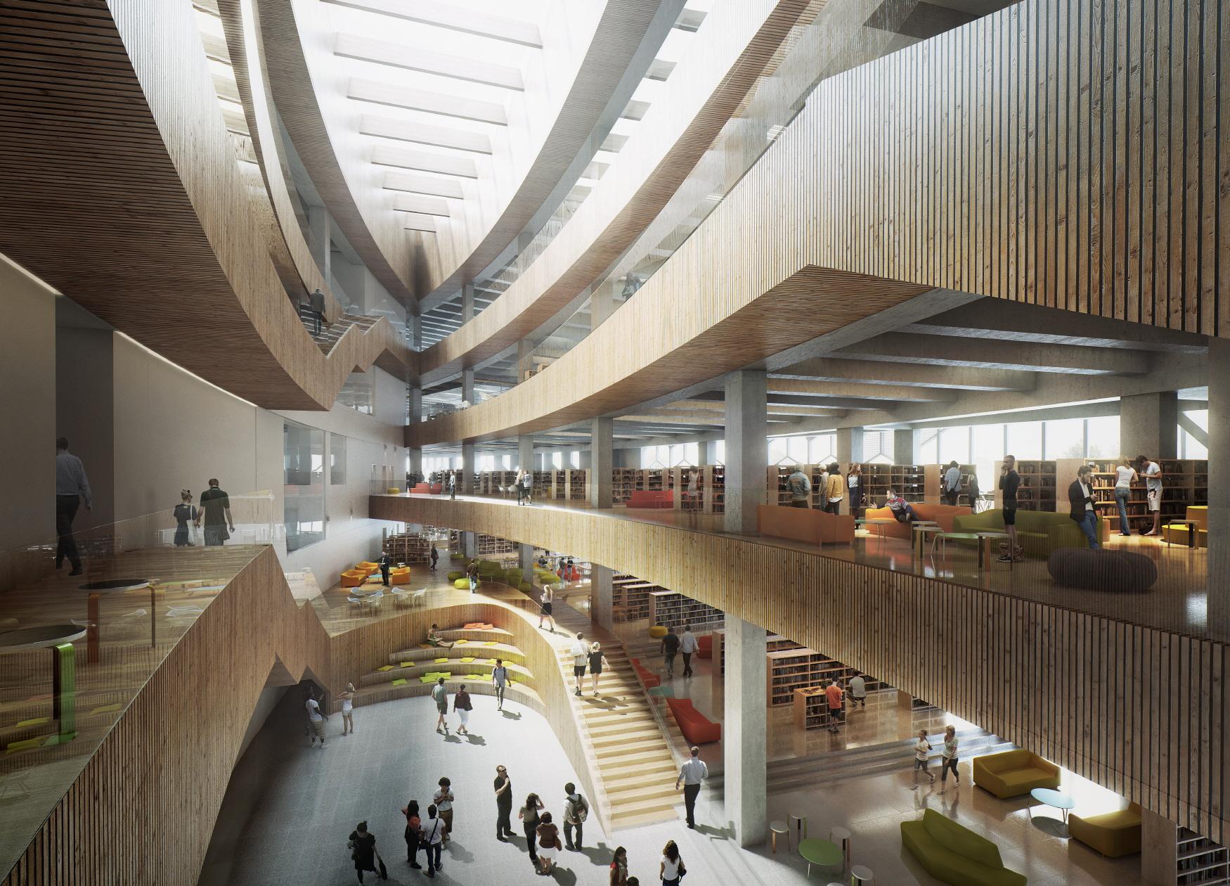 〔안정원의 건축 칼럼〕 건물 아래에 경전철을 품고 있는 도서관 2