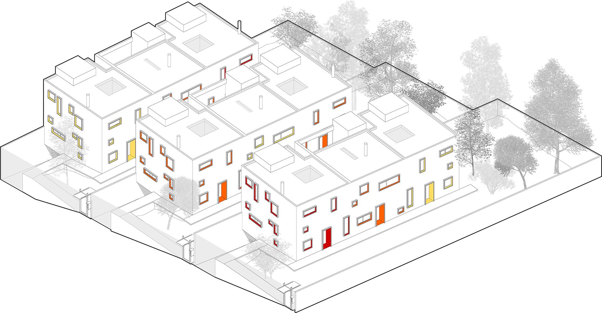 〔안정원의 디자인 읽기〕 컬러풀한 창의 조합과 보이드 공간의 특별함을 제공하는 큐브하우스2