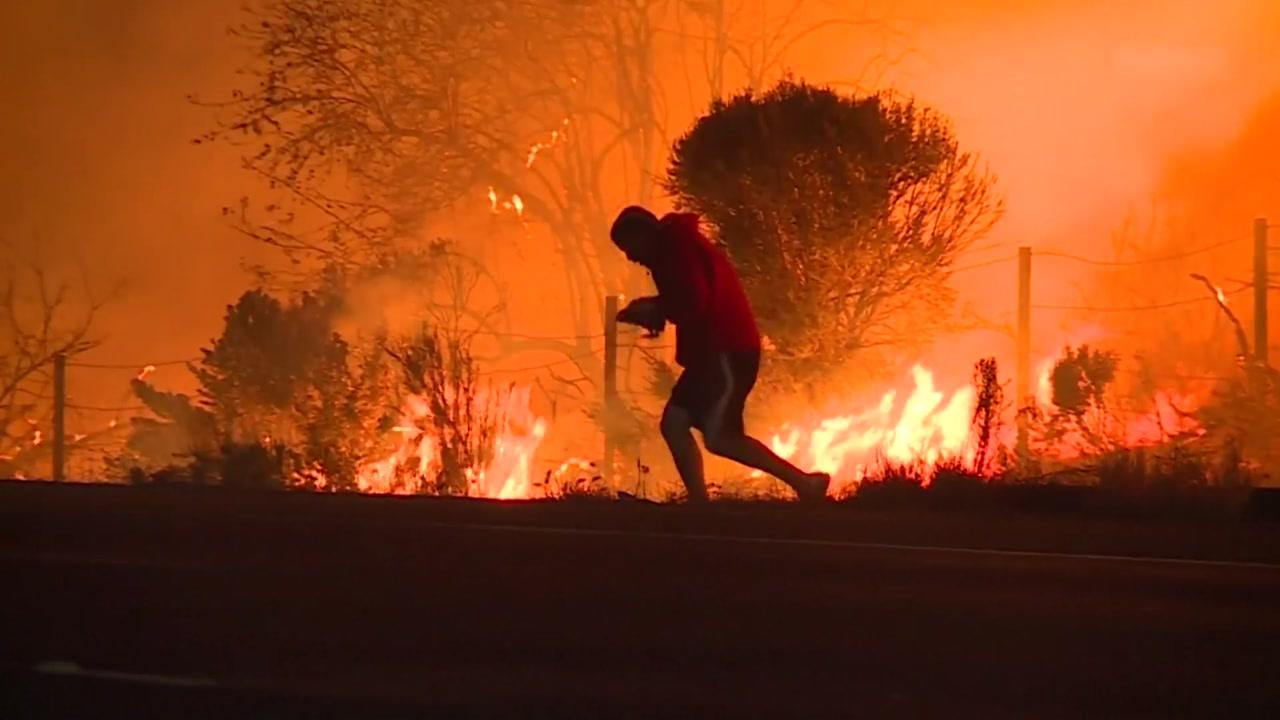 미국 뒤덮은 초대형 산불에 20만 명 대피령