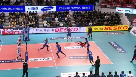 '가스파리니 맹활약' 대한항공, 삼성화재 격파...리그 3위 도약