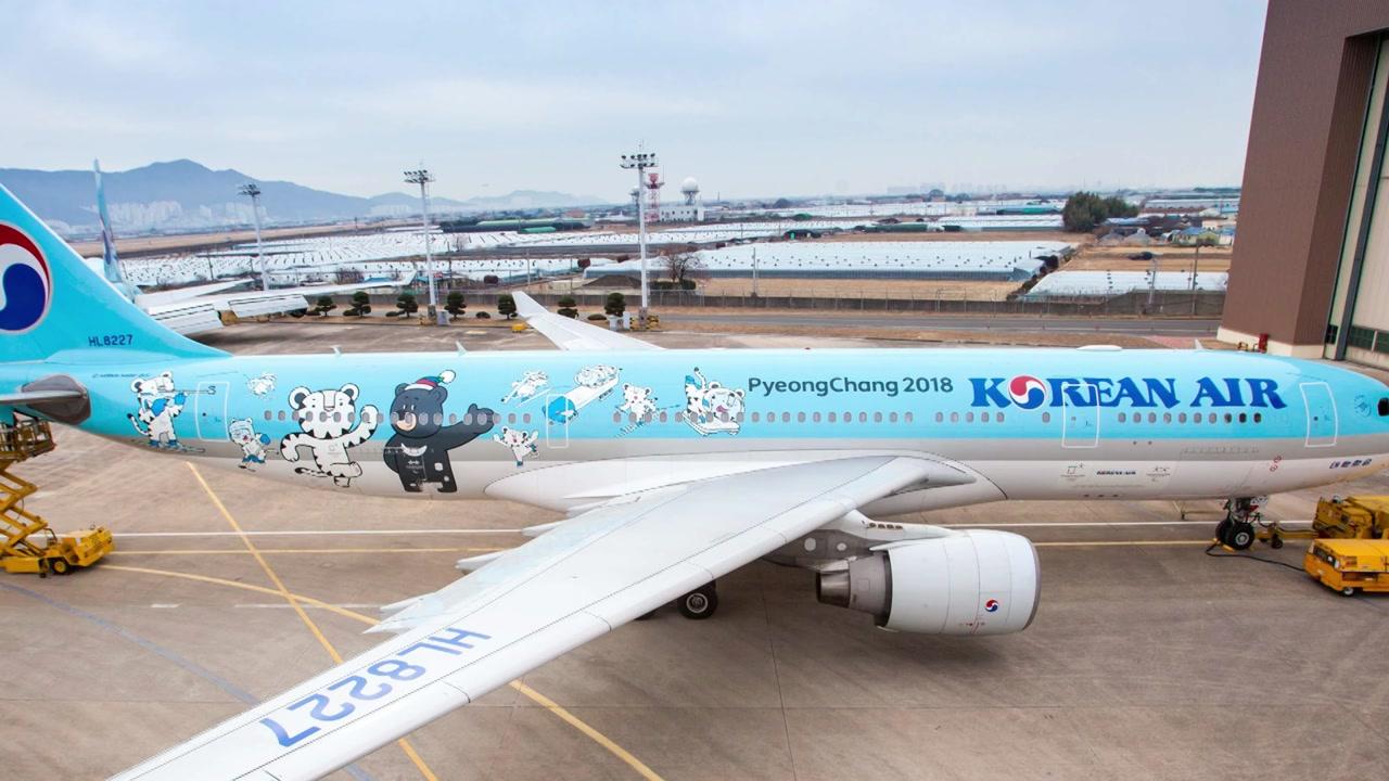 [기업] 대한항공, 평창동계올림픽 홍보 항공기 운항