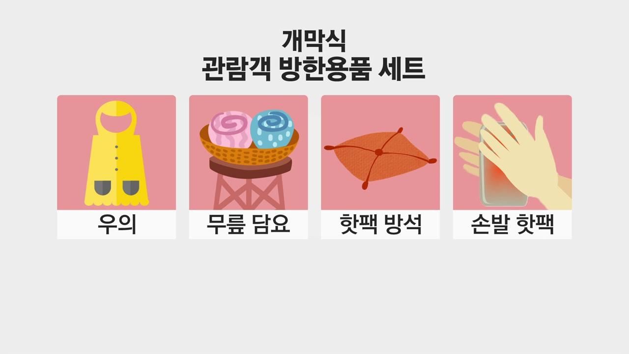'바람길 차단' 평창 개회식장 대형 방풍막 설치